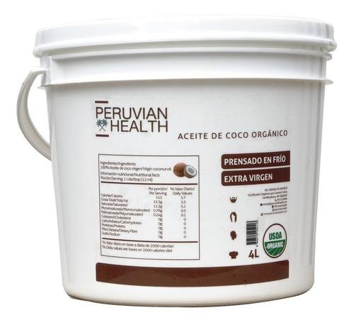 aceite de coco orgánico virgen balde 1 litros peru lima