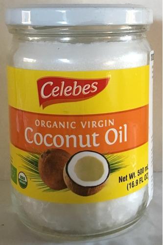 aceite de coco orgánico virgen marca celebes, de filipina