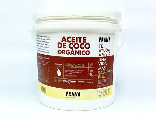 aceite de coco prana 4 l