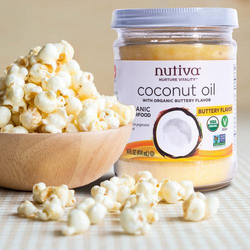 aceite de coco sabor manteca organico natural nutiva 414ml