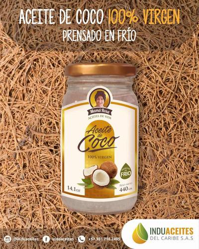 aceite de coco virgen 100% natural y puro. 440gr (480ml)