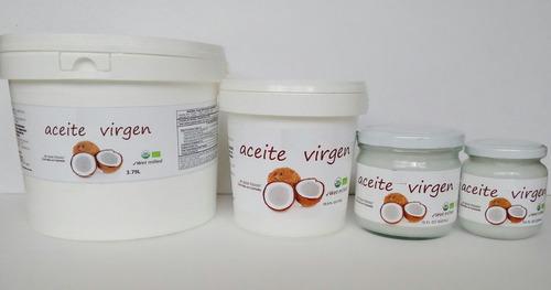 aceite de coco virgen 100% orgánico certificado 450 ml