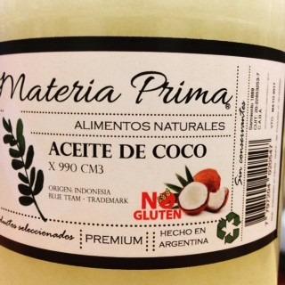 aceite de coco virgen neutro / puro x 5 litros materia prima