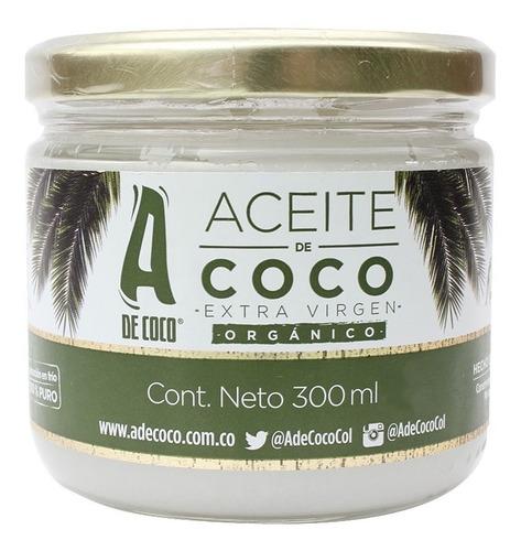 aceite de coco x-virgen organico x 300ml