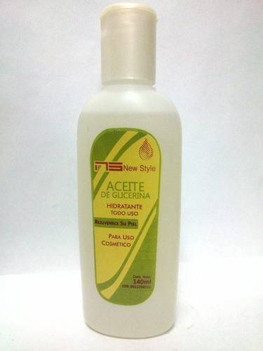 aceite de glicerina hidrata y humecta la piel uso cosmetico