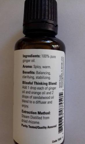 aceite de jengibre  30 ml 1fl, oz