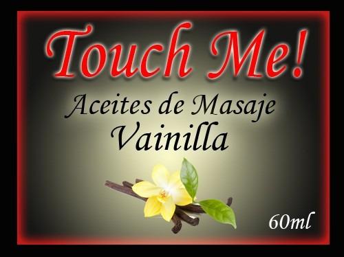 aceite de masajes efecto calor sabor vainilla touch me 60ml
