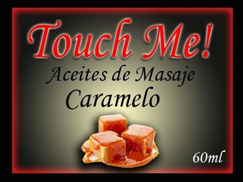aceite de masajes touch me efecto calor sabor caramelo 60ml