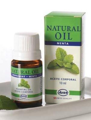 aceite de menta - concentración - swissjust - aromaterapia