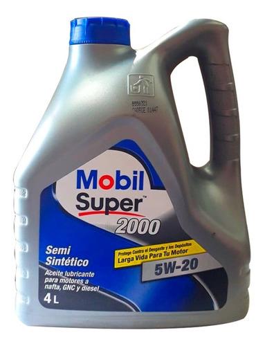 aceite de mobil super 2000 5w20 semisintetico 4 litros