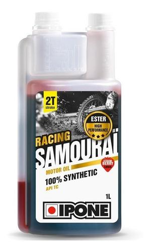 aceite de moto (ipone) samurai racing 2t 1lt sintético fresa