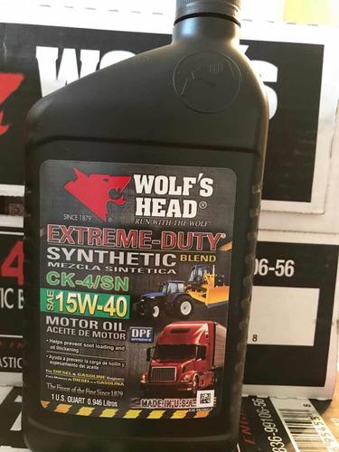 aceite de motor 15w40 semi sintético  wolfs head importado