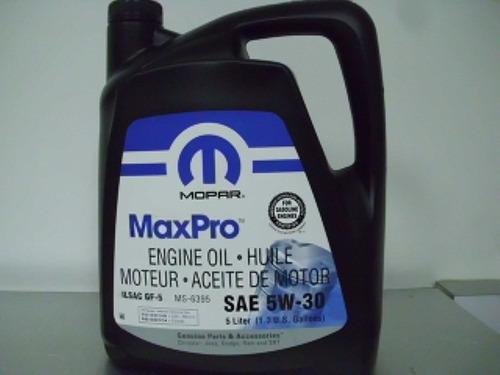 aceite de motor 5w 30 5 litros sintetico mopar sp