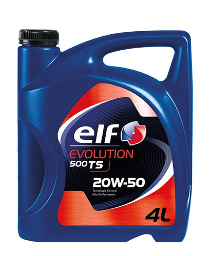 aceite de motor elf evolution 500 ts 20w-50 4l