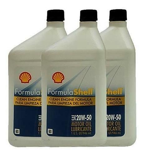 aceite de motor mineral 20w-50 shell (promocion promocion)