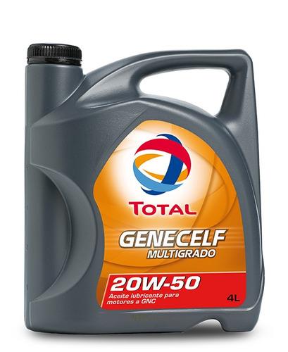 aceite de motor total genecelf multigrado 20w-50 4l