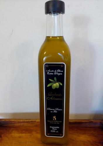 aceite de oliva 1/2 litro. oliva extra virgen. cruz del eje