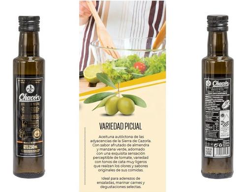 aceite de oliva extra virgen chacon botella de vidrio 250ml