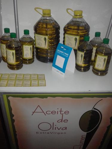 aceite de oliva extra virgen x 5 lts. 1ra prensada en frio.