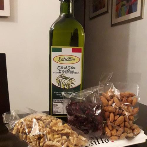 aceite de oliva + frutos secos