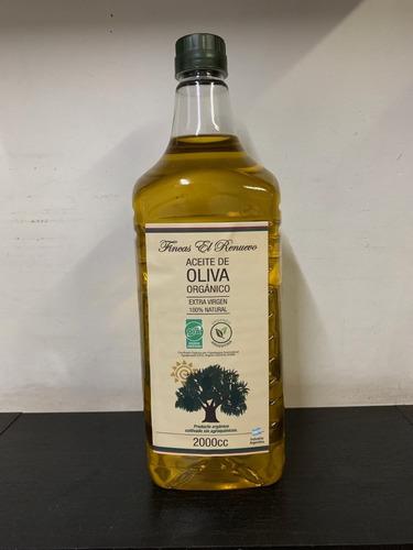 aceite de olivas orgánico certificado extra virgen x 2 lt