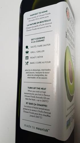 aceite de palta hass 1 lt 100% puro prensado en frio, kosher