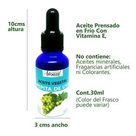 Aceite De Pepita De Uva 30ml Prensado En Frio Puro Natural