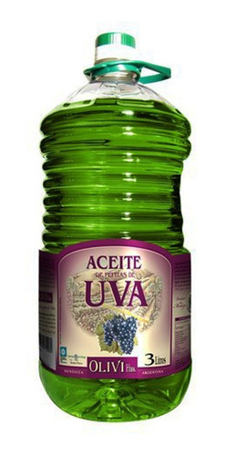 aceite de pepitas de uva por 3lts olivi hnos