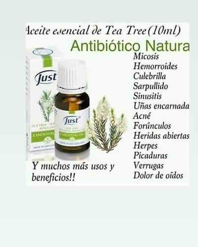 aceite de tea tree 10ml swissjust