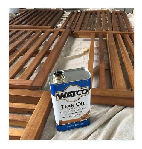 aceite de teca watco-rust oleum protector de madera 0.946ml