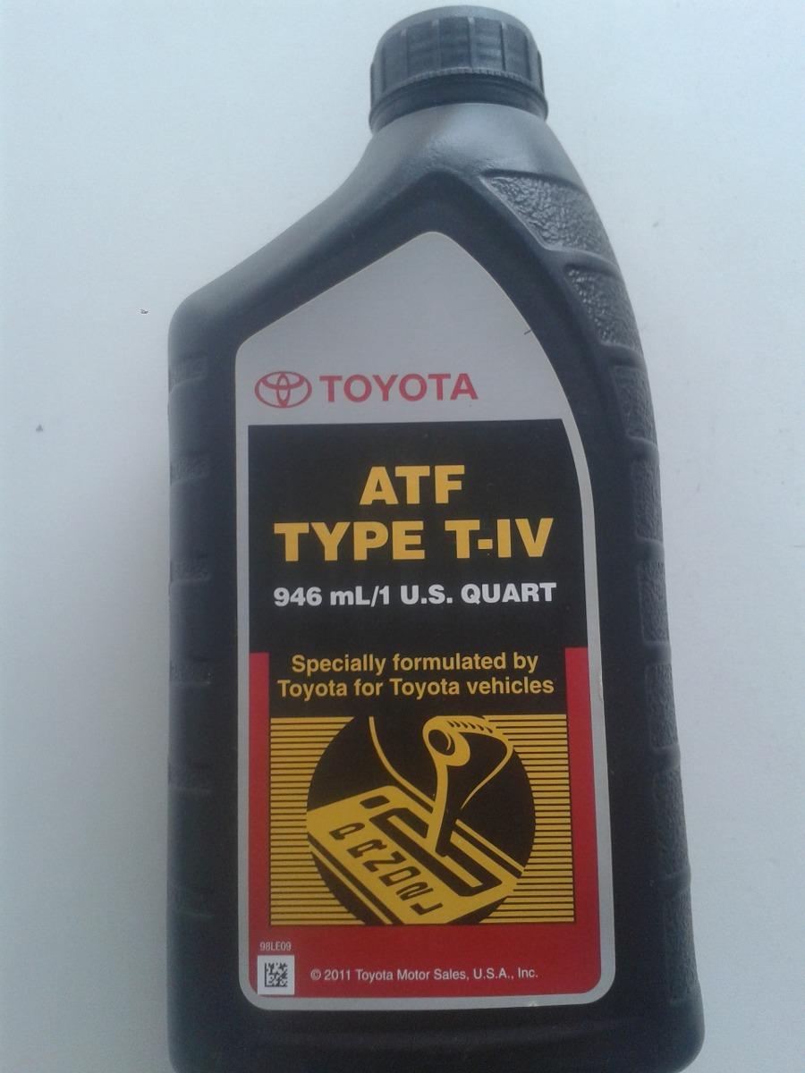 Toyota Rav4 Se >> Aceite De Transmision Automatica Toyota Original Atf T/iv ...
