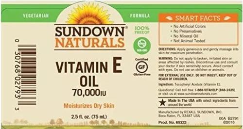 aceite de vitamina e 70,000 ui, súper concentrado