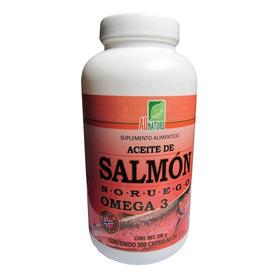 Aceite Del Salmon Noruego Omega 3 All Nature 300 Cápsulas