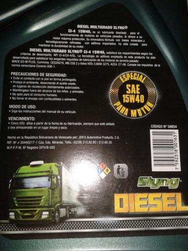 aceite diesel 15w40 cl4 slyng garrafa 4lts