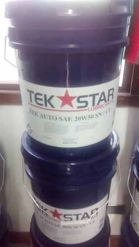 aceite diesel mineral 20w-50 tek star usa paila o tambor