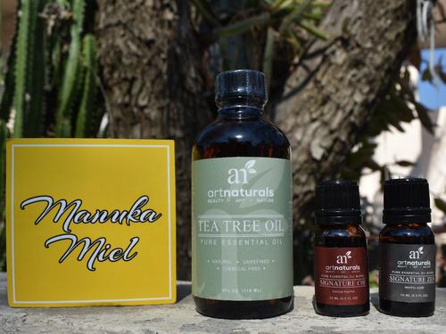 aceite esencial de arbol de té 120 ml y eucalipto menta lava