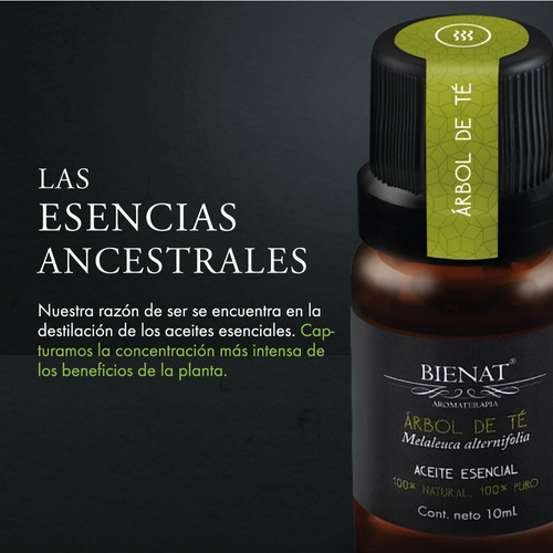 aceite esencial de árbol de té natural 100% puro