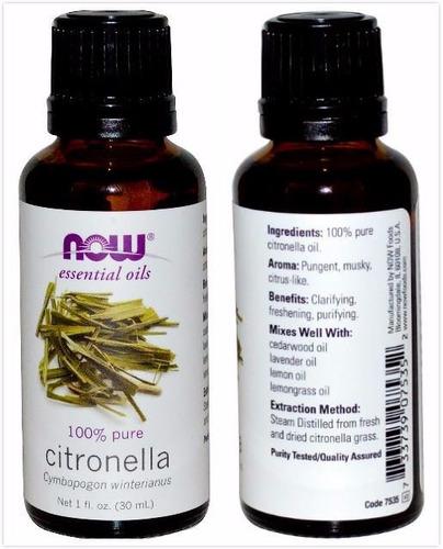 aceite esencial de citronella 30ml 100% puro adios mosquitos