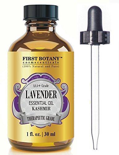 aceite esencial de lavanda de cachemira con un cuentagotas