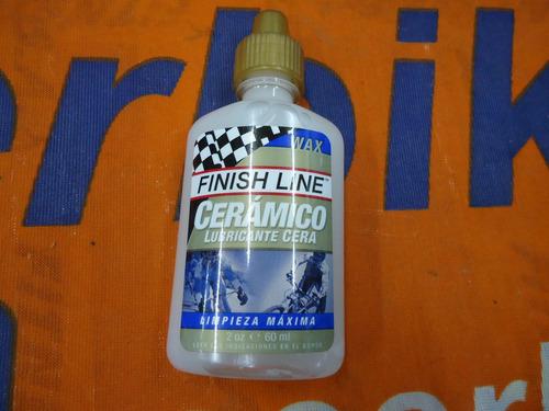 aceite finish line wax ceramic seco 60ml - racer bikes