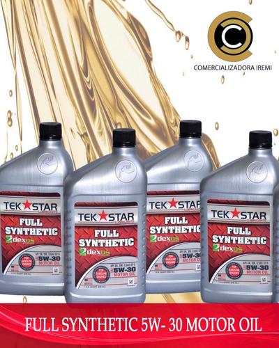 aceite full sintetico 5w30 tek star nos volvimos locos!!!!!!