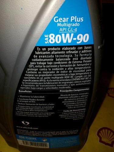 aceite gear gl-4 sae 80w-90 diferencial  transmision tienda