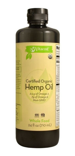aceite  hemp orgánico certificado cáñamo prensado frió 710ml