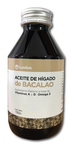 aceite higado bacalao noruego sabor original goldfish 600ml