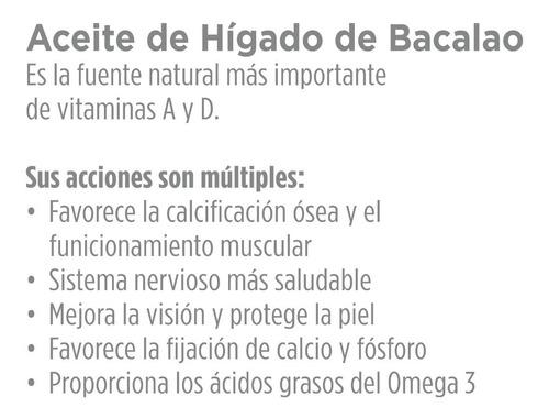 aceite higado bacalao omega3 vit a d goldfish 60 cap blandas
