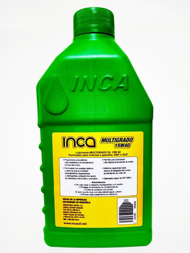 aceite inca 15w40 mineral