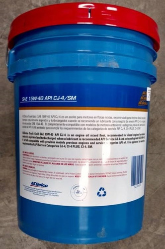 aceite lubricante acdelco 15w40 mineral paila diesel gasolin