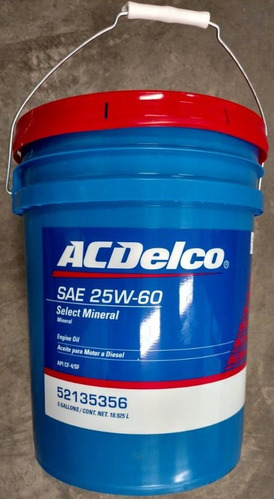 aceite lubricante acdelco 25w60 mineral paila diesel gasol