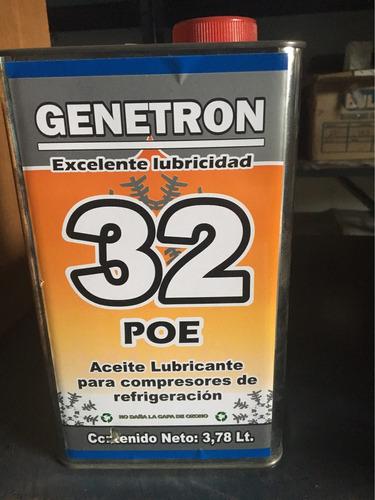 aceite lubricante poe 32 sintetico genetron refrigeración
