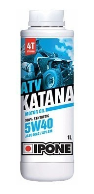 aceite lubricante sintetico atv katana 4 tiempos 5w40 ipone